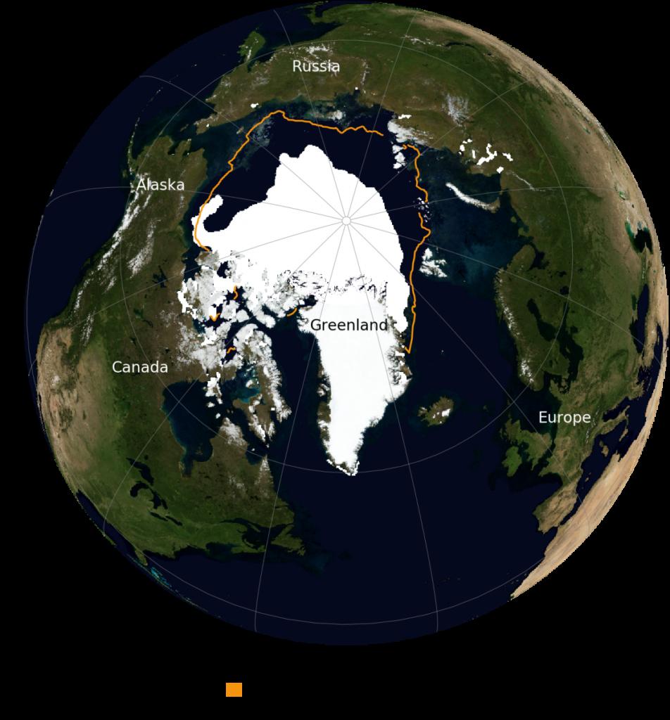 15 septembre 2020, la banquise ne fait plus que 3,7 millions de km2